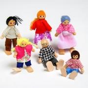 """Игрушка """"Кукольные человечки"""", набор 6 шт., МИКС"""