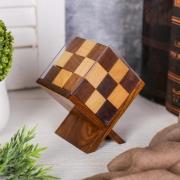 "Головоломка дерево ""Кубик на подставке"""