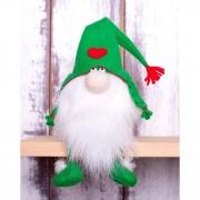 """Набор для изготовления игрушки из фетра с мехом """"Зелёный Гном"""""""