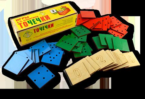 Игры Б.П.Никитина. Точечки - Размер коробки: 175×90×48 мм. Материал: фанера. Вес: 470 г.