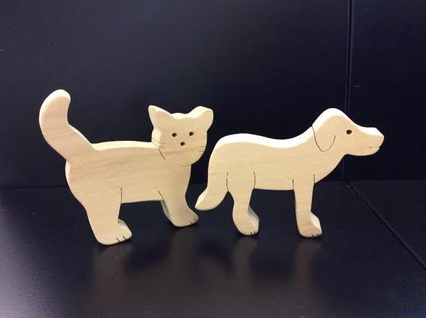 Набор №3. Кошечка и собачка. TreeTone. - 11*9*1,5