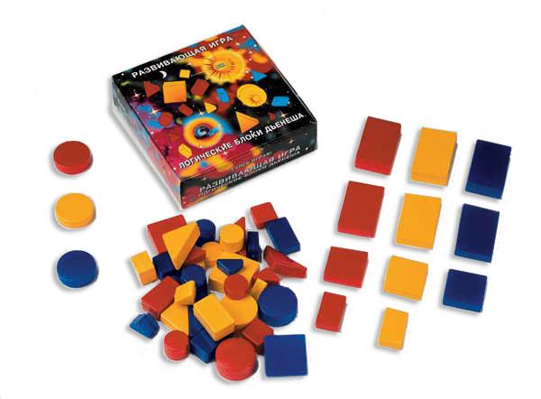 Логические блоки Дьенеша - Игра способствует ускорению развития способностей к логическому структурному мышлению и пониманию математических представлений. Дети моделируют важные понятия математики и информатики.