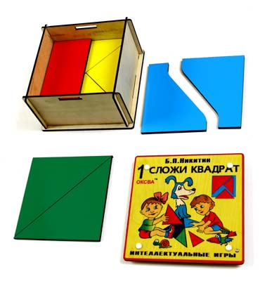 собери квадрат 1 уровень сложности класс элит - Детская развивающая игра