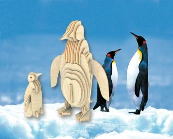 Сборная модель. Пингвин (дерево) -