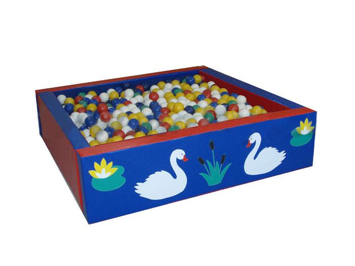 Сухой бассейн квадратный «Лебеди» - ТОВАР ПОД ЗАКАЗ! СВЯЖИТЕСЬ С НАШИМ МЕНЕДЖЕРОМ - (4212)242-042 8-914-159-20-42