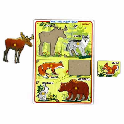 Рамка-вкладыш Животные наших лесов -