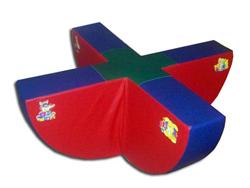 Качели для детских комнат - Один из любимых детьми игровой модуль. Игры с этим модулем приносят детям много радости и незабываемых минут общения друг с другом.   Качели - мягкие игровые модули для детских садов и других детских учреждений.  Размеры: 120*20*40 см