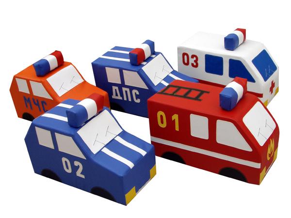 Машина (ДПС, пожарная, полиция, скорая) - ТОВАР ПОД ЗАКАЗ! СВЯЖИТЕСЬ С НАШИМ МЕНЕДЖЕРОМ - (4212)242-042 8-914-546-40-30 Машины могут использоваться в одиночных, сюжетно-ролевых играх, а также в групповых занятиях по обучению правилам дорожного движения   Мягкие игровые модули - Машина (скорая