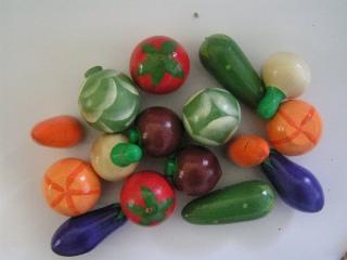 Овощи крашенные набор 16 шт. - Для обучения детей счету.