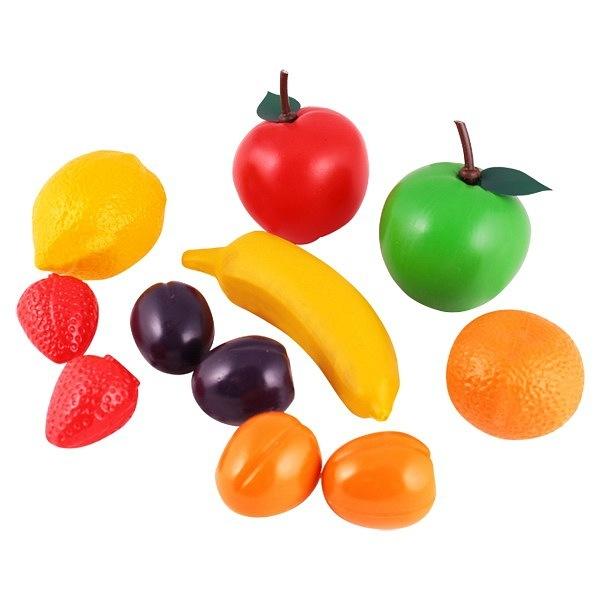 Набор фруктов арт.22101 (Плэйдорадо) - В набор входит: красное яблоко, зелёное яблоко, лимон, мандарин, банан, 2 клубнички, 2 сливы и 2 абрикоса.