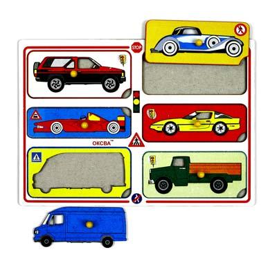 Рамка-вкладыш Автомобили - Планшет размером А4 с набором из 6-ти рамок-вкладышей автомобилей