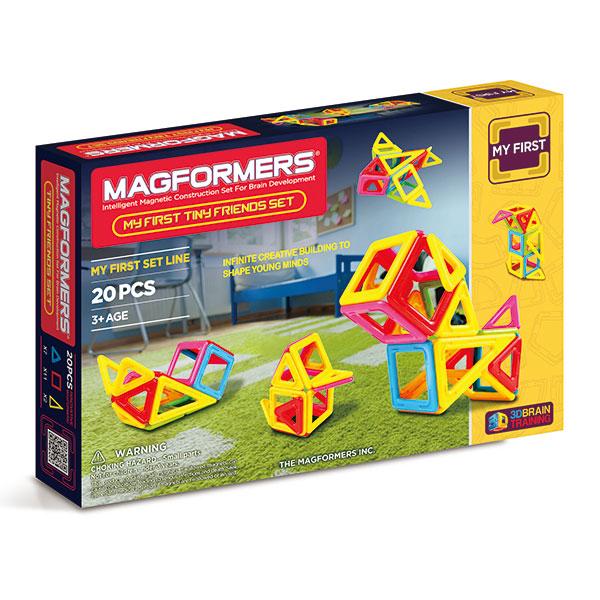 Магнитный конструктор MAGFORMERS 702004 Tiny Friends - В набор входят: - 7 магнитных треугольников; - 11 магнитных квадратов; - 2 магнитных равнобедренных треугольника; - книга идей Magformers.