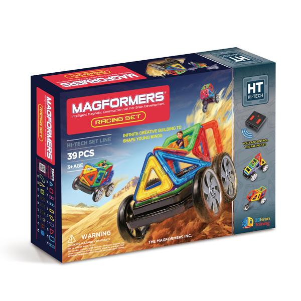Магнитный конструктор MAGFORMERS Racing set 707006(63131) - «Magformers Racing Set» — это Magformers на дистанционном управлении!   В комплект входит 39 детали.