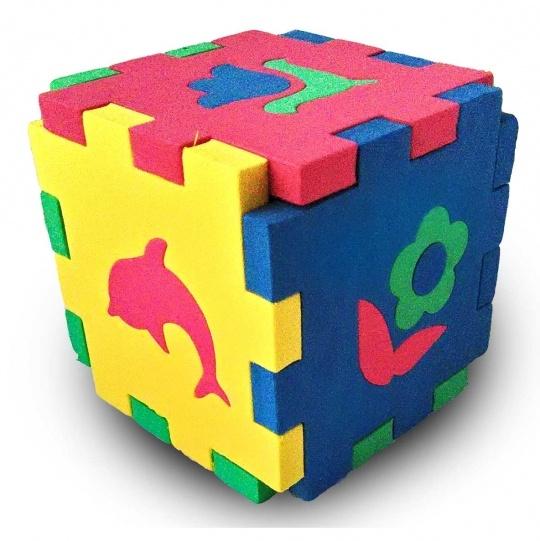 Кубик Мозаика Силуэты (Бомик) - Размер: 10х10х10 см.