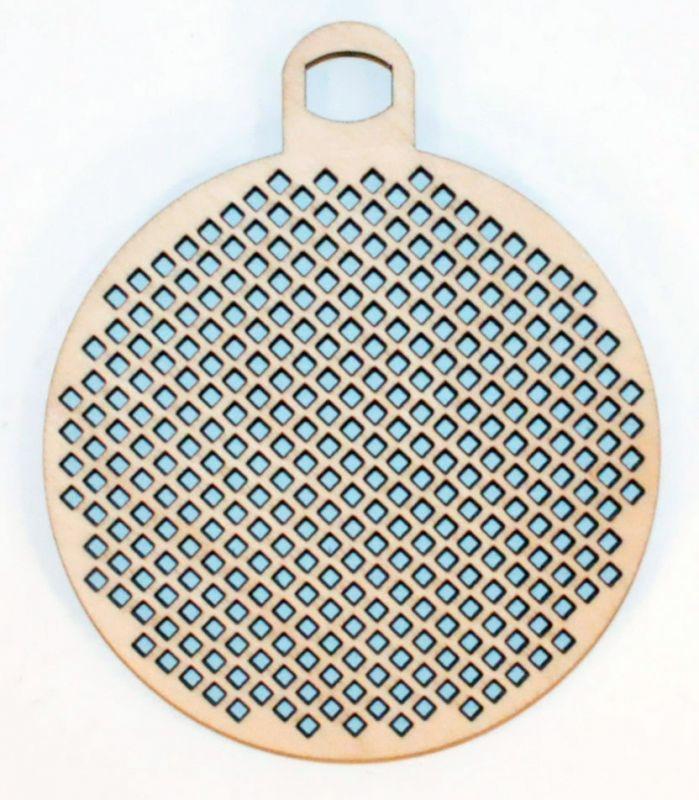 Елочный шар для вышивки - диаметр шара 7,5см