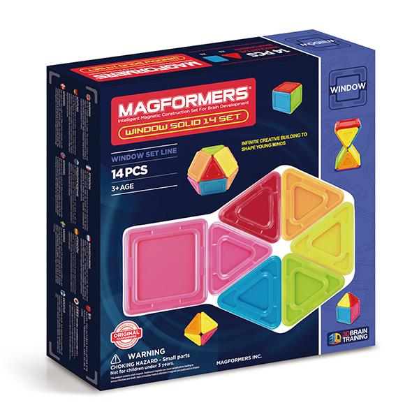 Магнитный конструктор MAGFORMERS 714005 Window Solid 14 set - Набор Magformers Window Solid 14 Set  содержит 14 элементов: ● сплошной непрозрачный треугольник: 8 шт. ● сплошной непрозрачный квадрат: 6 шт.