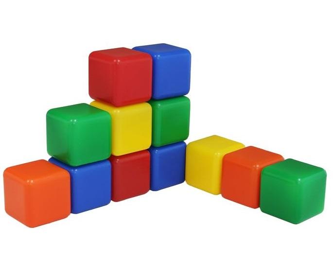 ТМ «Крошка Я». Набор цветных кубиков - 12 штук 4 х 4 см