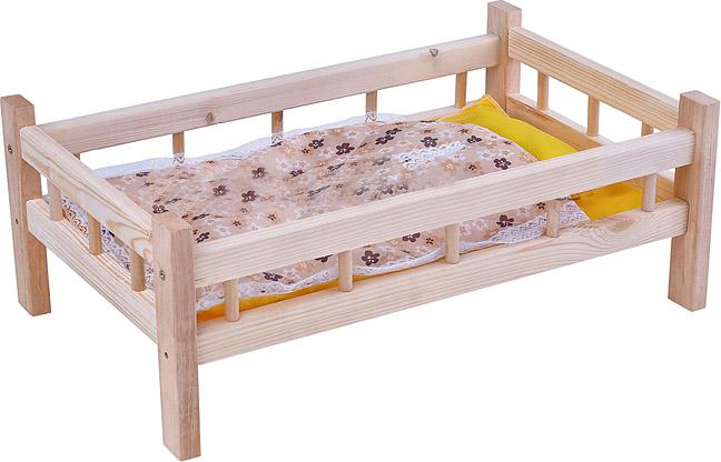 Ясюкевич. Кроватка для кукол №10 (дерево) - Размер: 49х28х24 см