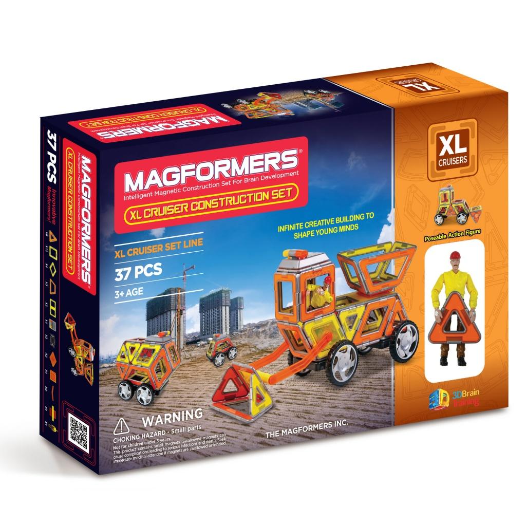 Магнитный конструктор MAGFORMERS 706003 Набор Круизер Строители - Набор «Magformers XL Cruiser Construction Set» содержит 37 элементов