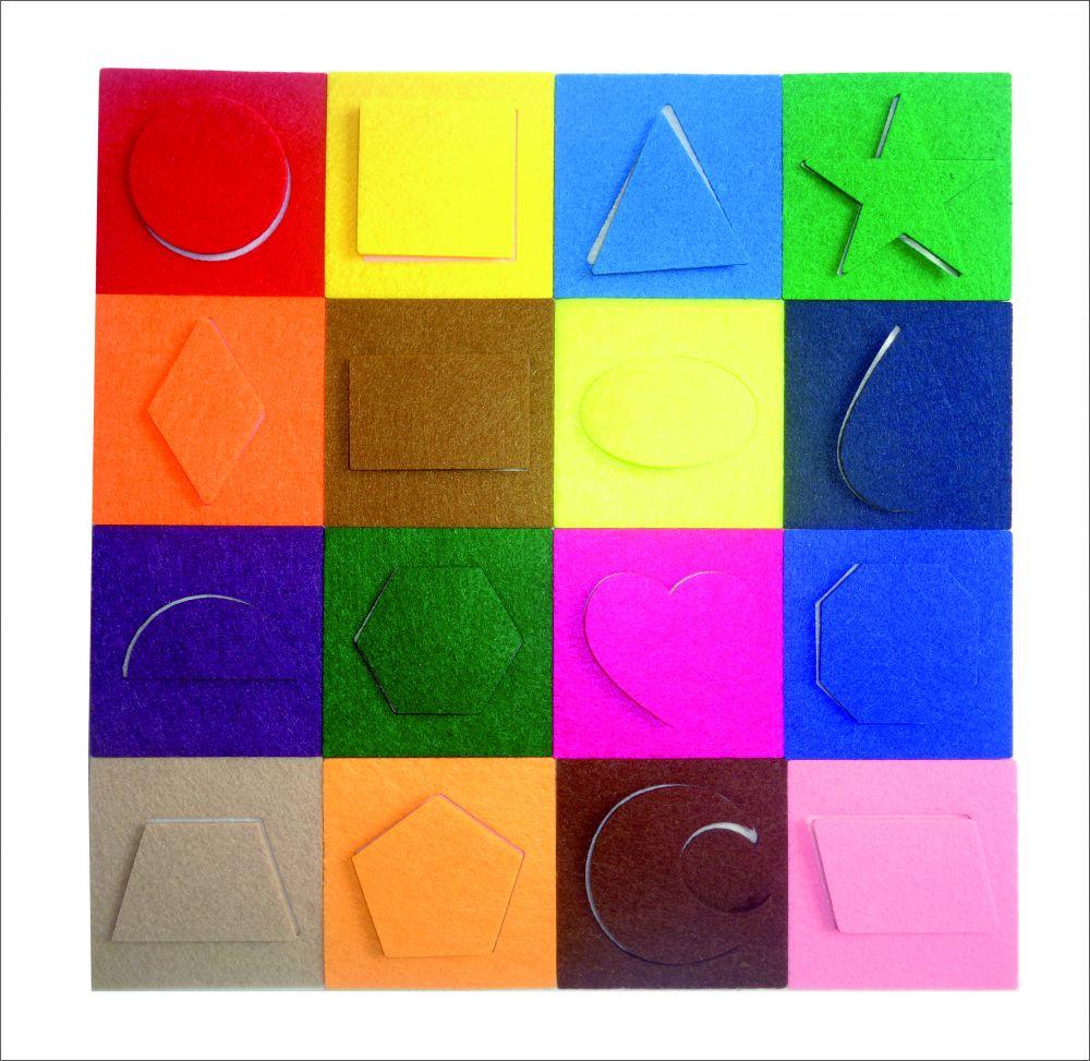 Мини-коврик Геометрия - Размер коврика 24 мс*24 см Материал: фетр