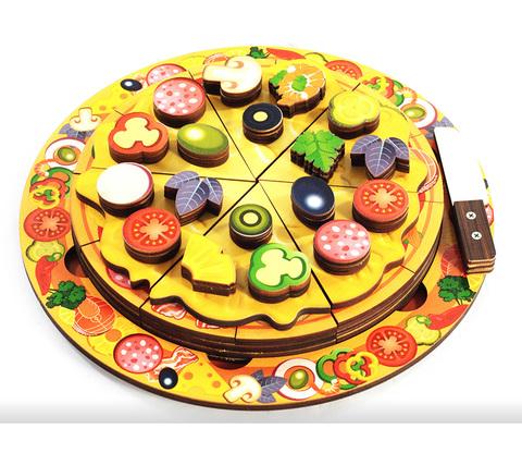Пицца арт.7918 (дерево) 54 элемента, 5 слоев - Деревянная доска
