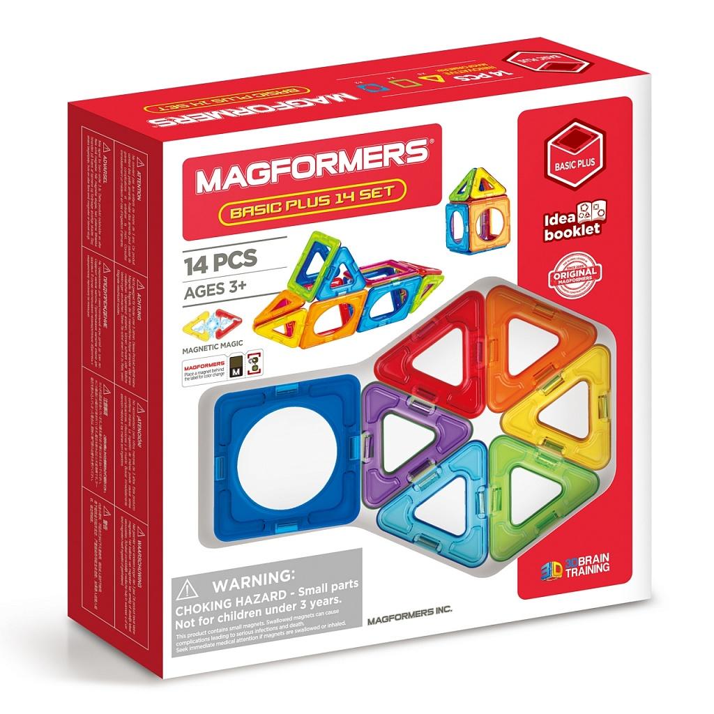 Магнитный конструктор MAGFORMERS 715013 Basic Plus 14 set - Набор