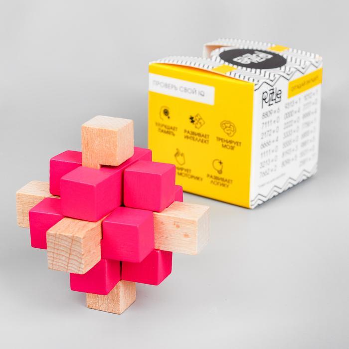 Головоломка сборная разноцветная 7,5х7,5х7,5 см - размер 7,2 см × 7,2 см × 7,2 см