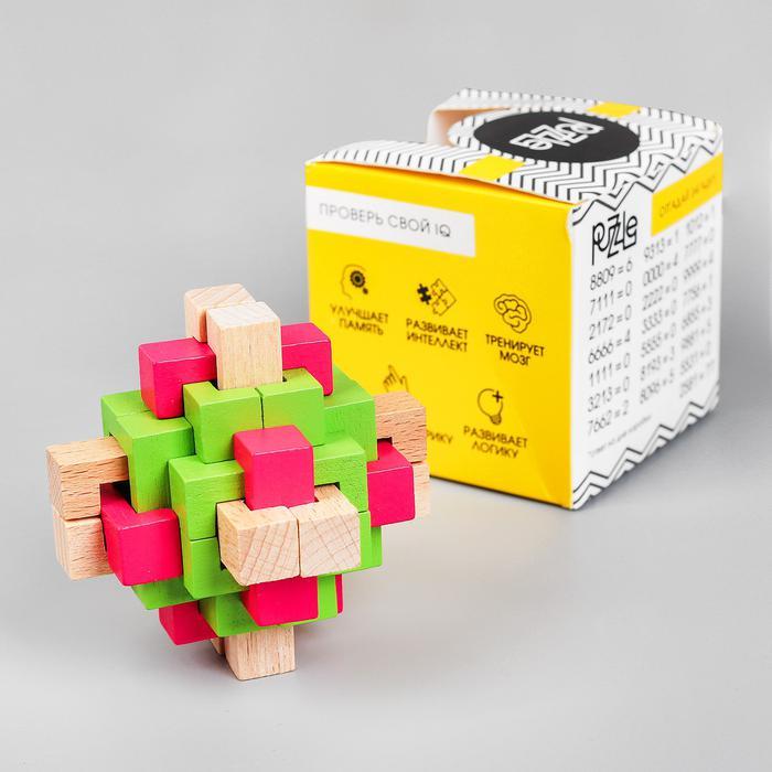 Головоломка сборная разноцветная 7,5х7,5х7,5 см  4361160 4361160 - размер 7,2 см × 7,2 см × 7,2 см