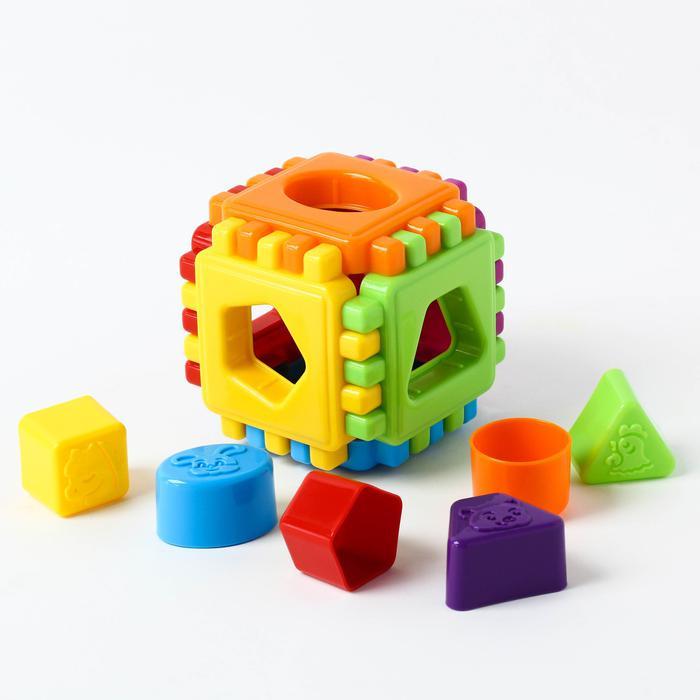 Развивающая игрушка Логический куб «Геометрик» - Размер 12 см × 12 см × 12 см