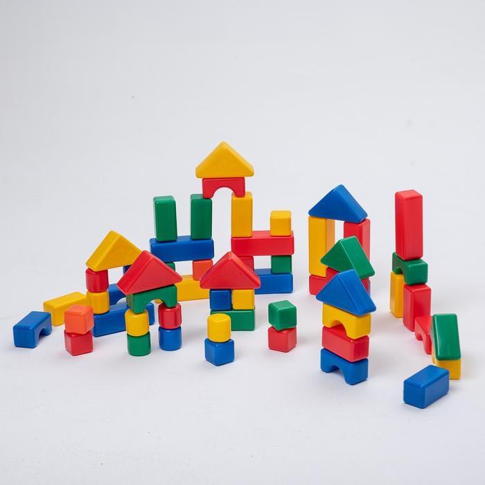 ТМ «Крошка Я». Строительный набор, 60 элементов, 4 х 4 см - 38 элементов 4 х 4 см