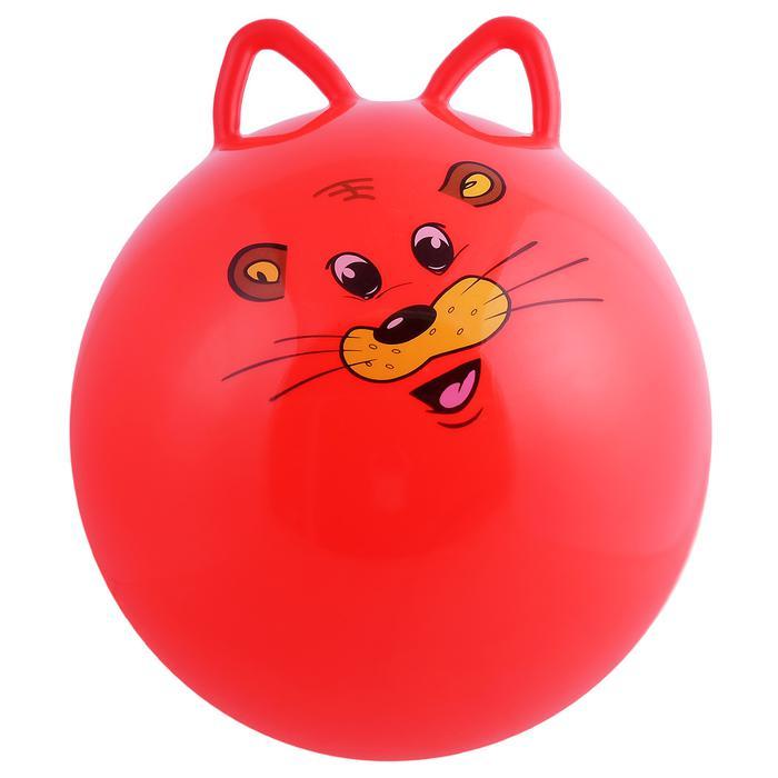 Мяч прыгун с ушками d=45 см, 380 г, МИКС - Внимание! цвета в ассортименте