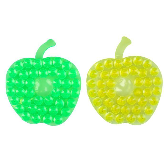 Мини-коврик для ванны «Яблоко» - цена за 1 шт, цвет в ассортименте, размер 8×8 см