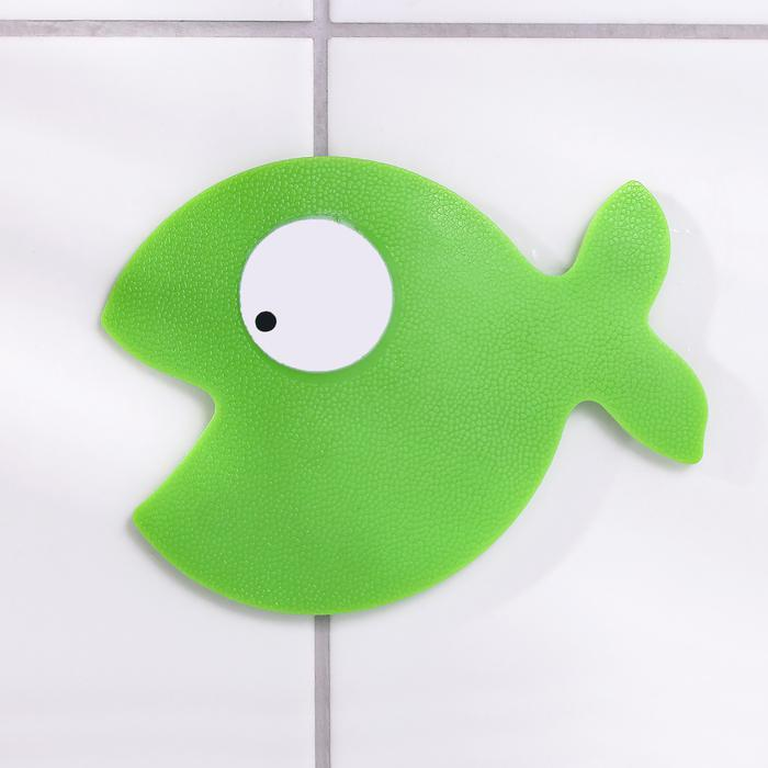 Мини-коврик для ванны «Кит» - цена за 1 шт, цвет в ассортименте, размер  10×12,5 см