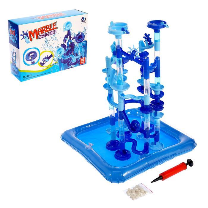 Водный аттракцион «Весёлая игра», с бассейном, для игр с марблс  - Комплектация бассейн — 37 × 37 × 5,5 см; аттракцион — 24 × 18 × 45,5 см; диаметр шарика — 1 см.